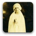 Little girl dressed for her 1st communion 1932