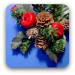 Christmas decoration: cones, berries and fir