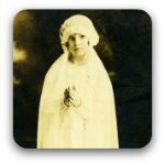 Little girl dressed for her 1st communion 1932