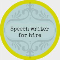 Speech writer for hire button