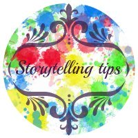 Storytelling tips button