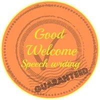 A good welcome speech writing guarantee button