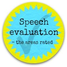 Speech evaluation - the areas rated -button