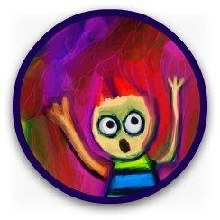 Cartoon spoof of  Munch's scream painting