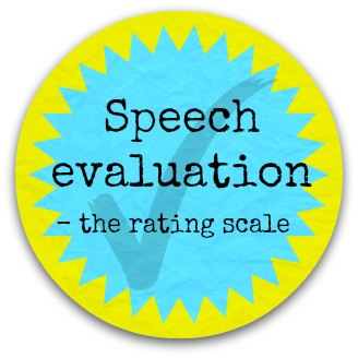 speech evaluation - rating scale button