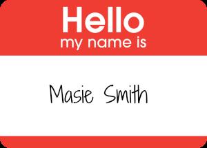 Hello sticker - Masie Smith