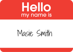 Hello sticker - Masie Smith