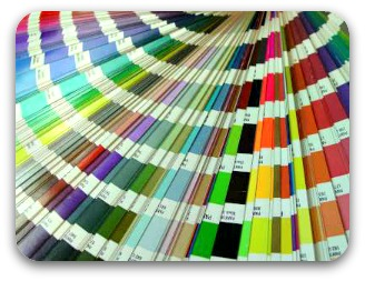 Color swatch for paint