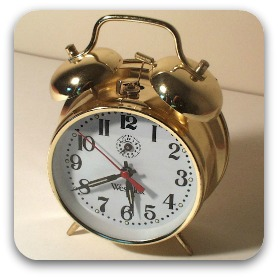 An old fashioned alarm clock