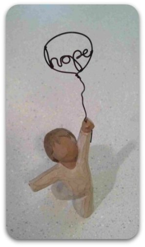 Drawing - a child holding a balloon containing the word