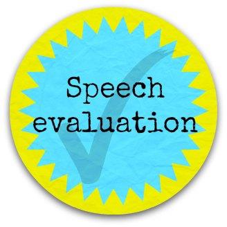 Speech evaluation button