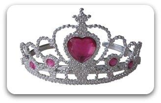 child's silver princess crown