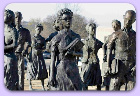 The Little Rock Nine sculptures