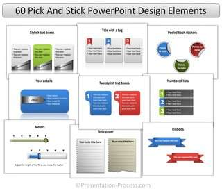 60 powerpoint elements pack from presentationprocess.com