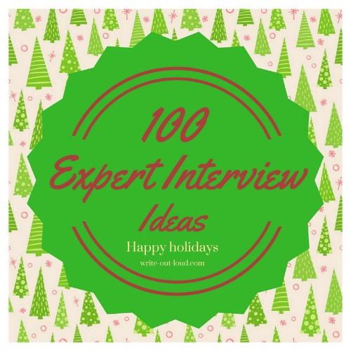Expert interview ideas label - Christmas 2017