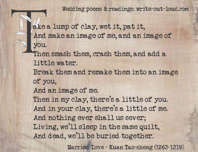 Wedding Poems Readings