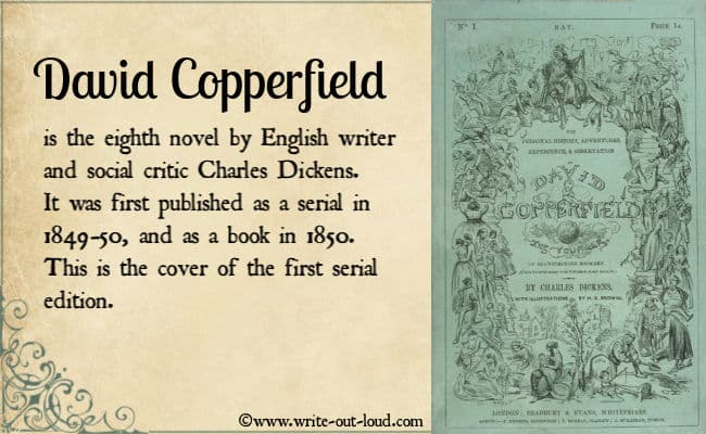 Image: The cover of the first serial edition of David Copperfield 1849.
