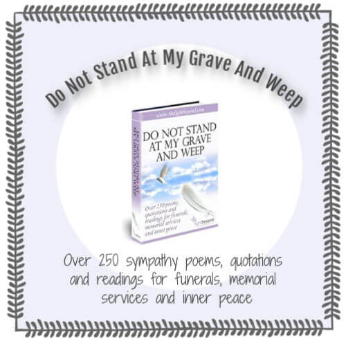 Do Not Stand at my Grave and Weep - ebook cover