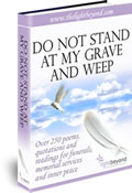 Cover of 'Do not stand at my grave and weep' an e-book of poems suitable for funeral readings.