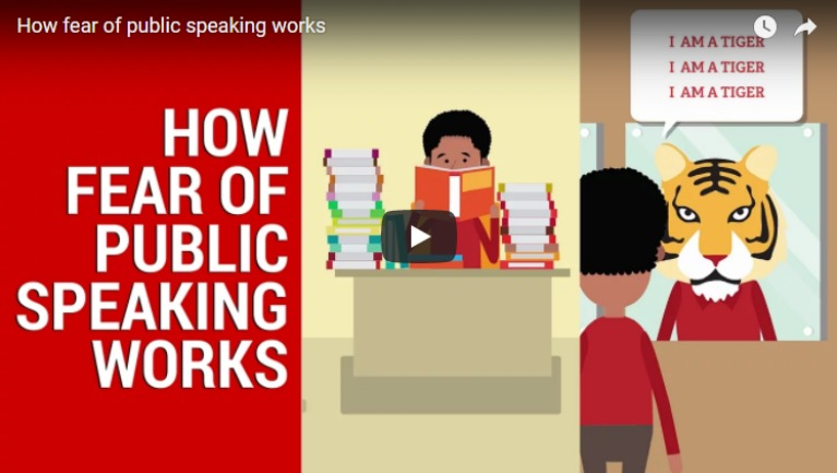 How fear of public speaking works - video