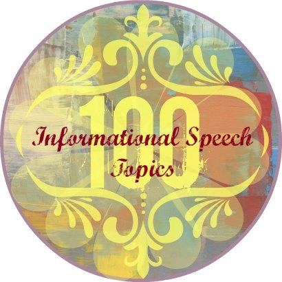 Informational speech topics button