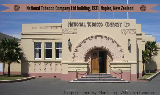 Image: National Tobacco Company building, 1931, Napier, New Zealand