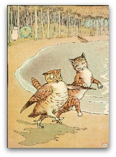 Illustration from Edward Lear's The Owl and the Pussycat