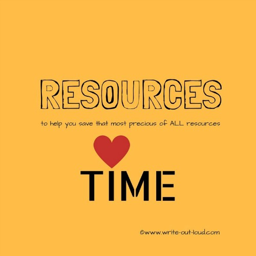 Resources - to help you save that most precious of all resources, time