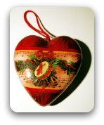 Red Christmas heart decoration