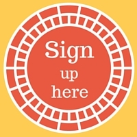 Red newsletter sign-up button