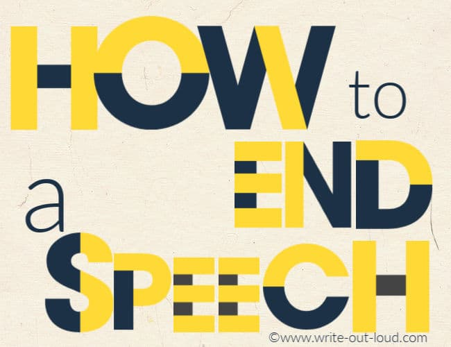 Graphic- how to end a speech