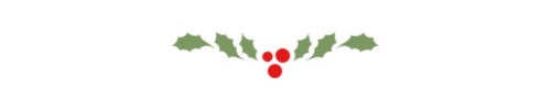 Christmas holly and berries divider