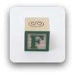 alphabet block F