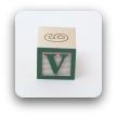 alphabet block V