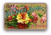 Vintage floral birthday greeting card