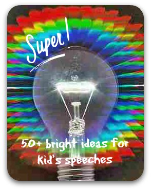 Rainbow light bulb - 50 bright ideas for kid's speeches