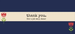 Business thank you speech template banner