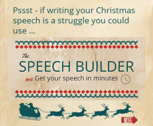 Christmas speech builder offer