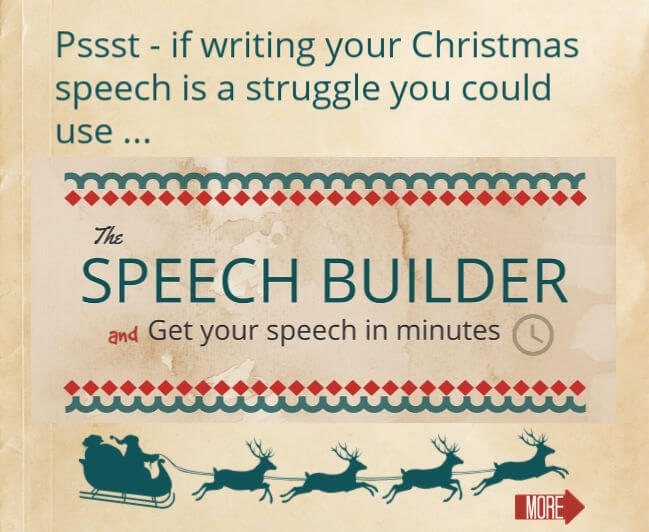 Christmas speeches: how to write a short, simple & sincere speech