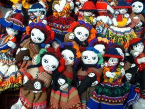 crowd of dolls