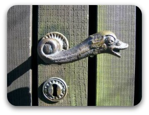ornamental brass door handle