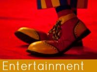 A pair of clowns shoes - entertainment & leisure speech topics