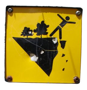 sign - don't fall off the cliff