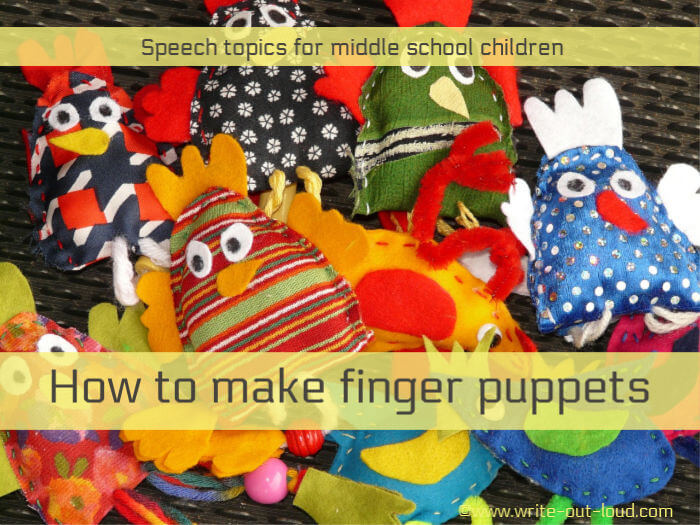 Image: - a collection of colorful handmade finger puppets. Text: How to make finger puppets.