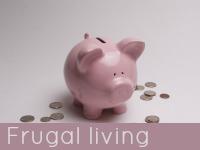 Pottery pink pig money box - frugal living speech topics.