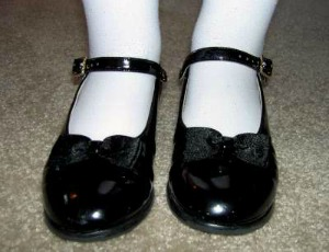 girls black mary jane shoes
