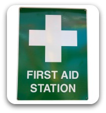 First Aid Station sig