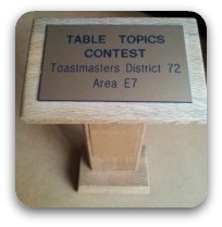 Toastmasters Table Topics Award Trophy