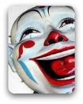 Clown laughing
