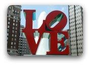 Street sculpture -oversize letters spelling LOVE